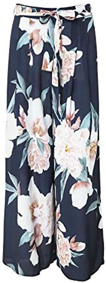 BerryGo floral wide leg pants | 40plusstyle.com