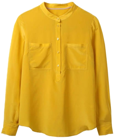 The perfect yellow blouse for women over 40 | 40plusstyle.com