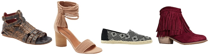 bohemian shoes to wear | 40plusstyle.com