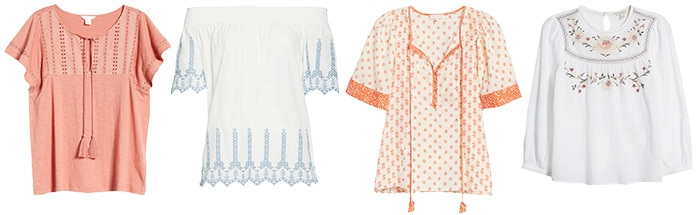 tops for the bohemian style personality | 40plusstyle.com