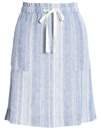 striped skirt | 40plusstyle.com