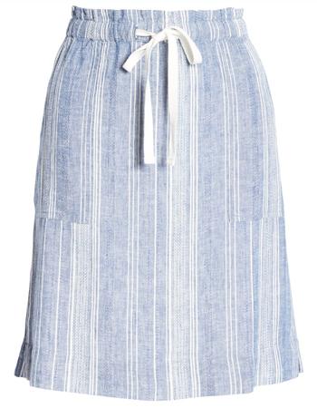 striped skirt | 40plusstyle.com