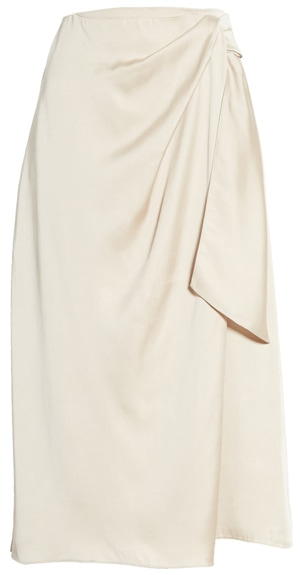 Summer skirts for women - silky wrap skirt | 40plusstyle.com