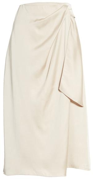 Summer skirts for women - silky wrap skirt | 40plusstyle.com