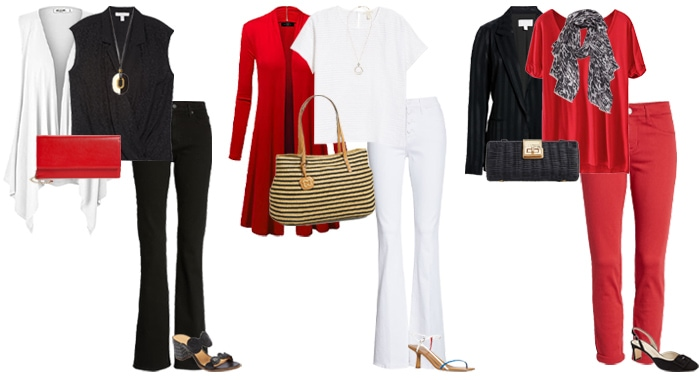 How to look slimmer and taller: dress in columns of color   40plusstyle.com