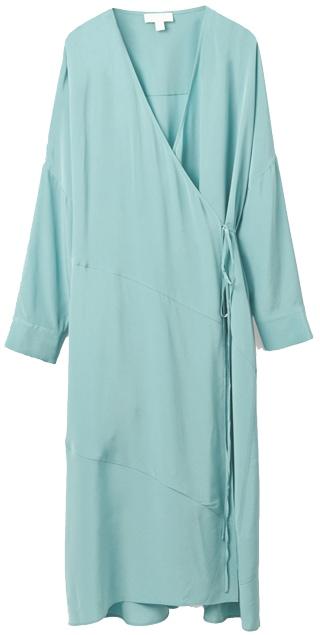 COS silk dress   40plusstyle.com