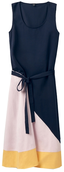 COS sleeveless colorblock dress | 40plusstyle.com