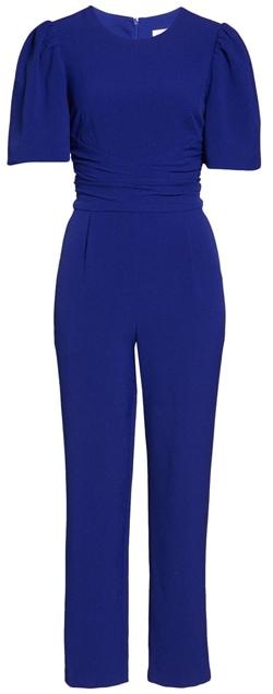 Eliza J tie waist jumpsuit | 40plusstyle.com
