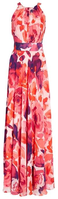 A floral maxi dress by Eliza J | 40plusstyle.com