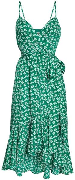 Eliza J floral high/low wrap midi dress   40plusstyle.com