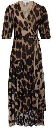 Ganni midi wrap dress | 40plusstyle.com