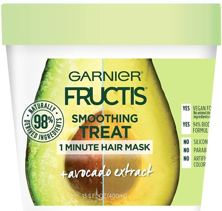 Garnier Fructis Smoothing Treat 1 Minute Hair Mask with Avocado Extract | 40plusstyle.com