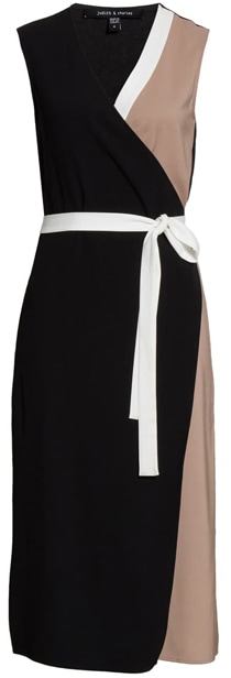Judith & Charles colorblock midi dress | 40plusstyle.com