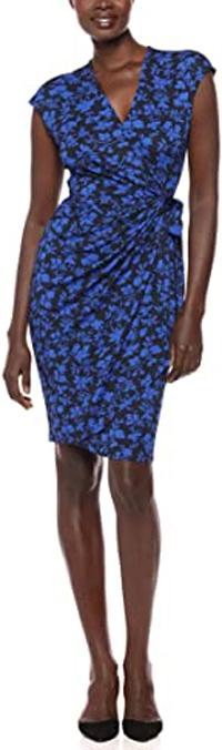Lark & Ro v-neck dress   40plusstyle.com