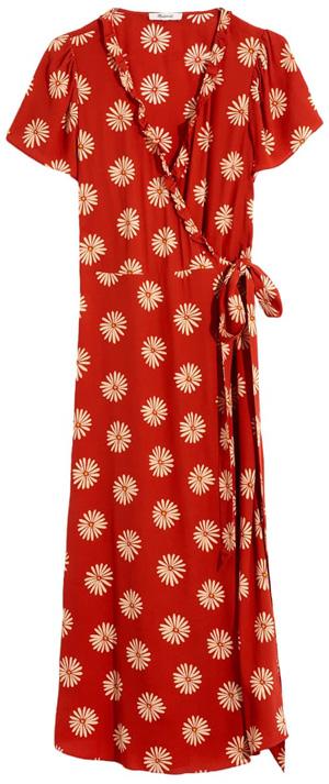 Madewell daisy ruffle edge wrap dress   40plusstyle.com