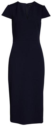 Maggy London midi sheath dress | 40plusstyle.com