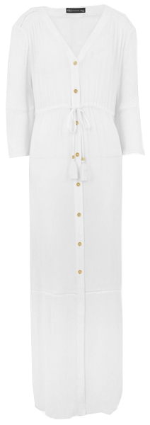 a white maxi dress to wear as a beach cover-up | 40plusstyle.com