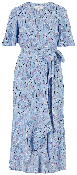 Marks & Spencer crepe v-neck wrap dress | 40plusstyle.com