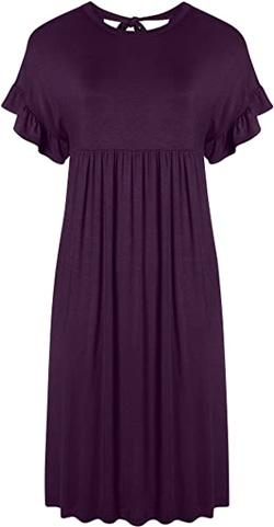 Simlu back bow tie dress | 40plusstyle.com