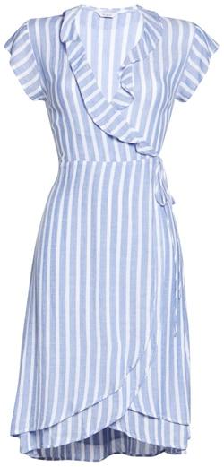 Rails stripe ruffle detail dress   40plusstyle.com