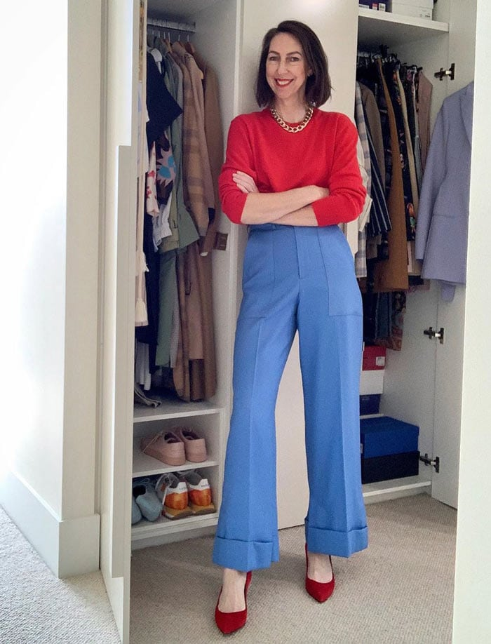 Wearing heels with your pants to elongate your legs   40plusstyle.com