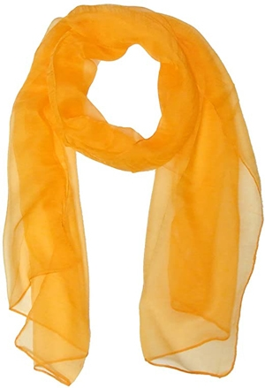 Yellow silk scarf | 40plusstyle.com