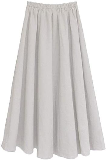 wide flowy skirt | 40plusstyle.com