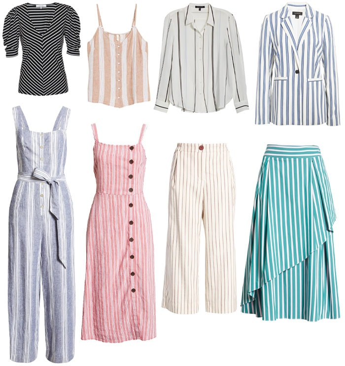 vertical stripes to help you look taller and slimmer | 40plusstyle.com