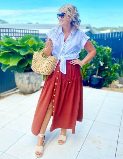 Easy breezy summer skirt outfits and the best summer summer skirts for women in stores now   40plusstyle.com