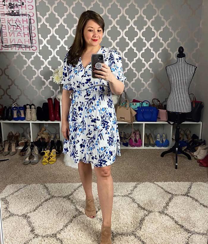 floral dress   40plusstyle.com
