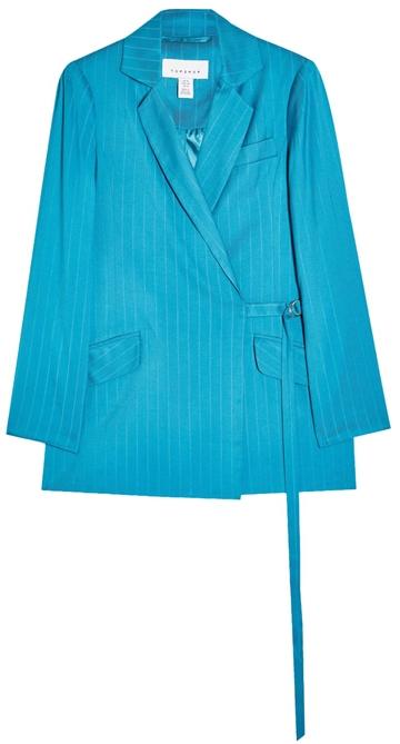 Topshop self stripe jacquard blazer | 40plusstyle.com