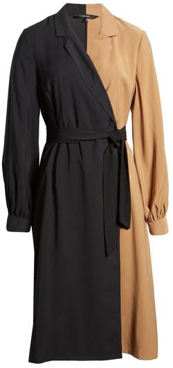 VERO MODA long sleeve shirtdress | 40plusstyle.com