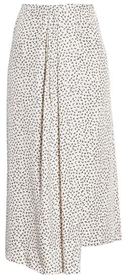 subtle print skirt | 40plusstyle.com