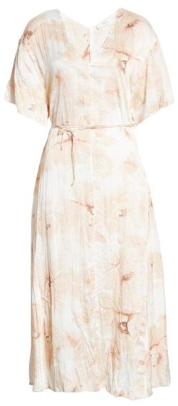 Vince tie waist midi dress | 40plusstyle.com
