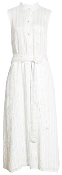 Vince stripe drapey shirtdress | 40plusstyle.com