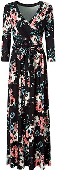 Zattcas faux wrap maxi dress   40plusstyle.com