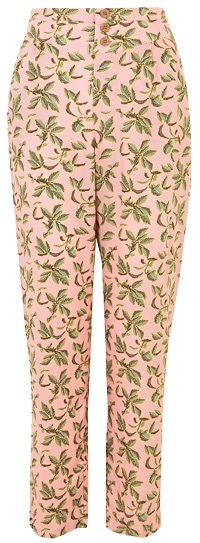 Marks & Spencer palm print tapered trousers