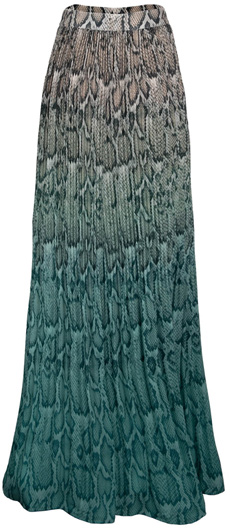 AFRM plissé pleat maxi skirt | 40plusstyle.com