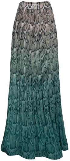 AFRM plissé pleat maxi skirt | 40plusstyle.com