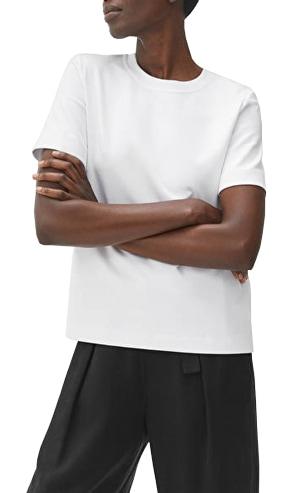 Arket 'Heavy-Weight' t-shirt   40plusstyle.com