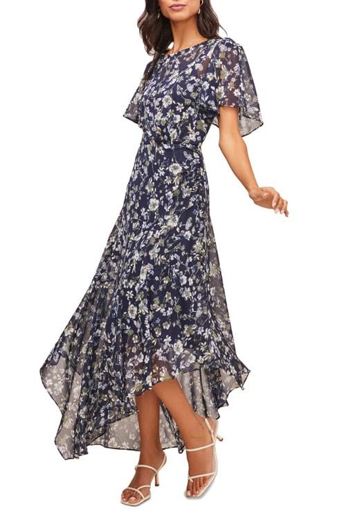 ASTR the Label floral print dress | 40plusstyle.com
