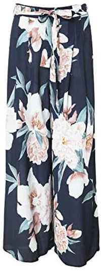 How to wear printed pants - BerryGo floral wide leg pants   40plusstyle.com
