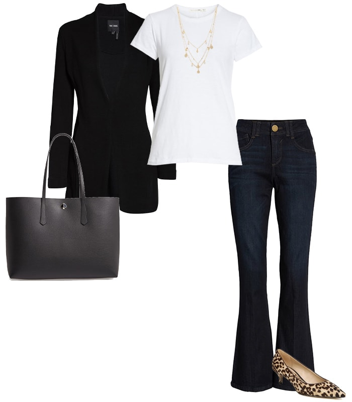 Shirt with jeans and a blazer   40plusstyle.com