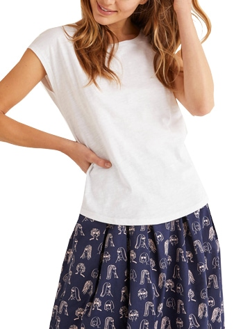 Best white t-shirts - Boden 'The Cotton Tee'   40plusstyle.com