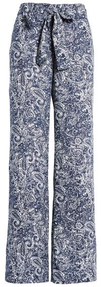 Caslon belted linen pants   40plusstyle.com