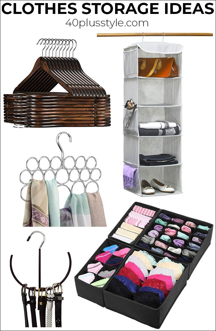 Clothes storage ideas: How to find lots of new outfit ideas through re-arranging your closet | 40plusstyle.com