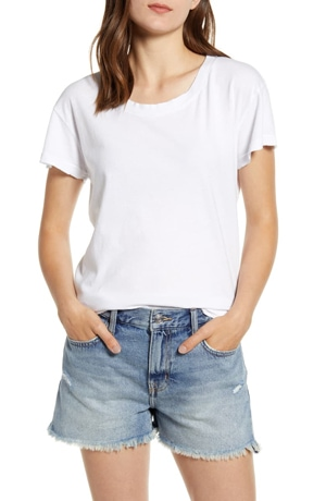 Best white t-shirts - Current/Elliott relaxed crewneck tee   40plusstyle.com