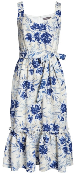 Donna Ricco floral a-line dress | 40plusstyle.com
