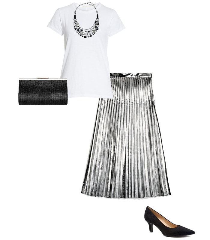 Shirt to wear with a more formal skirt   40plusstyle.com