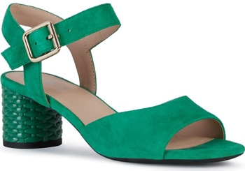 Colorful heeled sandals | 40plusstyle.com